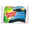 Scotch-Brite™ Non-Scratch Multi-Purpose Scrub Sponge, 4 2/5 x 2 3/5, Blue, 3/Pack MMMMP3
