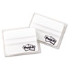 File Tabs, 2 x 1 1/2, Lined, White, 50/Pack