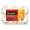 "Scotch® Moving & Storage Tape, 1.88"" x 54.6yds, 3"" Core, Clear, 6 Rolls/Pack MMM36506"