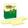 Post-it® Notes Greener Original Recycled Note Pads, 3 x 5, Canary Yellow, 100-Sheet, 12/Pack MMM655RPYW