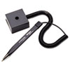Wedgy Secure Antimicrobial Ballpoint Counter Pen w/Square Base, .5mm, BK Ink/Brl
