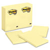 Post-it® Notes Original Pads in Canary Yellow, 4 x 6, 100-Sheet, 12/Pack MMM659YW