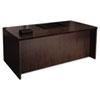 Mayline® Mira Series Wood Veneer Straight Front Desk, 72w x 36d x 29-1/2h, Espresso MLNMDKS3672ESP