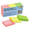 Redi-Tag® Self-Stick Notes, 1 1/2 x 2, Neon, 12 100-Sheet Pads/Pack RTG23701
