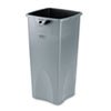 Untouchable Square Waste Receptacle, Plastic, 23 gal, Gray