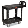 Flat Shelf Utility Cart, Two-Shelf, 19.19w x 37.88d x 33.33h, Black