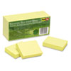 Redi-Tag® 100% Recycled Notes, 1 1/2 x 2, Yellow, 12 100-Sheet Pads/Pack RTG25700