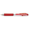 Pentel® WOW! Retractable Gel Pen, .7mm, Trans Barrel, Red Ink, Dozen PENK437B