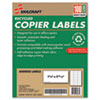 7530012074363 SKILCRAFT Recycled Copier Labels, Copiers, 1.38 x 2.81, White, 24/Sheet, 100 Sheets/Box