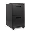 TWO-DRAWER METAL PEDESTAL FILE, 14.96W X 19.29D X 27.75H, CHARCOAL