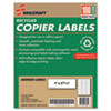 7530010864518 SKILCRAFT Recycled Copier Labels, Copiers, 1 x 2.81, White, 33/Sheet, 100 Sheets/Box