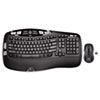 Logitech® MK550 Wireless Desktop Set, Keyboard/Mouse, USB, Black LOG920002555