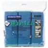 WypAll* Cloths w/Microban, Microfiber, 15 3/4 x 15 3/4, Blue, 6/Pack KCC83620