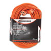 Innovera® Indoor/Outdoor Extension Cord, 100ft, Orange IVR72200