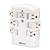 Innovera® Wall Mount Surge Protector, 6 Outlets, 2160 Joules, White IVR71651