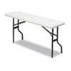 IndestrucTables Too 1200 Series Resin Folding Table, 72w x 18d x 29h, Platinum