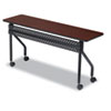 Iceberg OfficeWorks Mobile Training Table, 60w x 18d x 29h, Mahogany/Black ICE68058