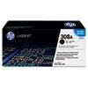HP 308A (Q2670A) Black Original LaserJet Toner Cartridge - Laser - Standard Yield - 6000 Page - 1 Ea HEWQ2670A