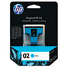 HP HP 02, (C8771WN) Cyan Original Ink Cartridge HEWC8771WN