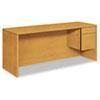 HON® 10500 Series 3/4-Height Right Pedestal Credenza, 72w x 24d x 29-1/2h, Harvest HON10545RCC