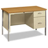 "<strong>HON®</strong><br />34000 Series Right Pedestal Desk, 45.25"" x 24"" x 29.5"", Harvest/Putty"