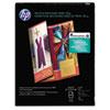 HP Inkjet Tri-Fold Brochure Paper, 103 Brightness, 48lb, 8-1/2 x 11, White, 100/PK HEWQ5443A