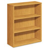 <strong>HON®</strong><br />10500 Series Laminate Bookcase, Three-Shelf, 36w x 13-1/8d x 43-3/8h, Harvest