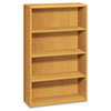 <strong>HON®</strong><br />10700 Series Wood Bookcase, Four Shelf, 36w x 13 1/8d x 57 1/8h, Harvest