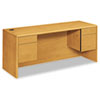 HON® 10700 Kneespace Credenza, 3/4 Height Pedestals, 72w x 24d x 29 1/2h, Harvest HON10743CC