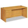 """HON® 10700 Series """"L"""" 3/4 Left Pedestal, 66w x 30d x 29 1/2h, Harvest HON10784LCC"""
