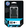 HP HP 02, (C8721WN) Black Original Ink Cartridge HEWC8721WN