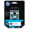HP HP 02, (C8774WN) Light Cyan Original Ink Cartridge HEWC8774WN