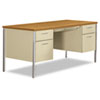 "<strong>HON®</strong><br />34000 Series Double Pedestal Desk, 60"" x 30"" x 29.5"", Harvest/Putty"