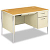 HON® Mentor Series Single Pedestal Desk, 48w x 30d x 29-1/2h, Harvest/Putty HON88251RCL
