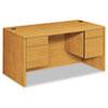 HON® 10500 Series 3/4-Height Double Pedestal Desk, 60w x 30d x 29-1/2h, Harvest HON10573CC
