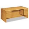 HON® 10700 Series Desk, 3/4 Height Double Pedestals, 72w x 36d x 29 1/2h, Harvest HON10791CC