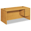 "<strong>HON®</strong><br />10500 Series ""L"" Workstation Right Pedestal Desk, 66"" x 30"" x 29.5"", Harvest"