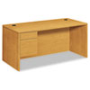 "<strong>HON®</strong><br />10500 Series ""L"" Workstation Single Pedestal Desk, 66"" x 30"" x 29.5"", Harvest"