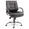 Alera® Alera Ravino Big & Tall Series Mid-Back Swivel/Tilt Leather Chair, Black ALERV45LS10C