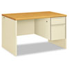 """<strong>HON®</strong><br />38000 Series Right Pedestal Desk, 48"""" x 30"""" x 29.5"""", Harvest/Putty"""