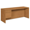 10500 Series 3/4-Height Left Pedestal Credenza, 72w x 24d x 29-1/2h, Harvest