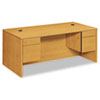 "10500 Series Double Pedestal Desk, 72"" x 36"" x 29.5"", Harvest"