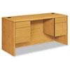 HON® 10700 Kneespace Credenza, 3/4 Height Pedestals, 60w x 24d x 29 1/2h, Harvest HON10765CC