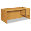 "10500 Series ""L"" Workstation Right Pedestal Desk with 3/4 Height Pedestal, 72"" x 36"" x 29.5"", Harvest"