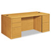"<strong>HON®</strong><br />10700 Series Double Pedestal Desk with Full-Height Pedestals, 72"" x 36"" x 29.5"", Harvest"