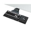 Fellowes® Professional Corner Executive Keyboard Tray, 19w x 14-3/4d, Black FEL8035901