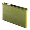 "Reinforced 1"" Extra Capacity Hanging Folders, Legal, Standard Green, 25/Box"