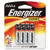 Energizer® MAX Alkaline Batteries, AAA, 4 Batteries/Pack EVEE92BP4