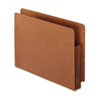 Heavy-Duty End Tab File Pockets, Straight Cut, 1 Pocket, Letter, Brown