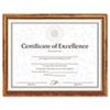 DAX® Two-Tone Document/Diploma Frame, Wood, 8 1/2 x 11, Maple w/Gold Leaf Trim DAXN17981MT